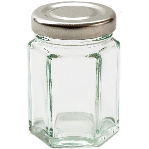 Stiklainis 115ml hexa + dangtelis