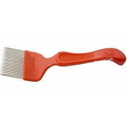 Šakutė su plast.rankena, lygios adatos