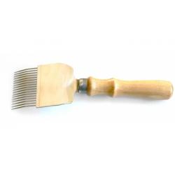 Šakutė su med.rankena, lenktos adatos 25