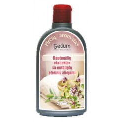 """Raudonėlių ekstraktas su eukalipto eteriniu aliejumi """"Sedum"""""""